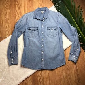 J Crew Factory Chambray Button Down